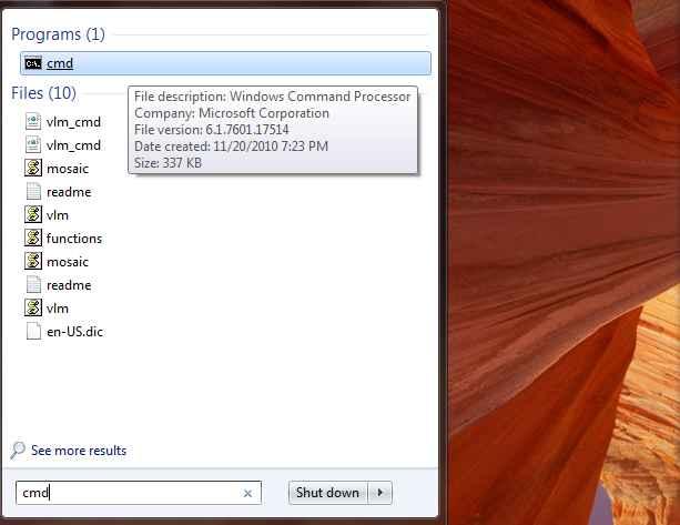 The CLI in Windows